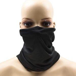 Face Mask Gaiter Headband Hood Do Rag Cap Black